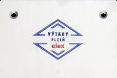 Kabínové tablo BA590, gravirované logo.